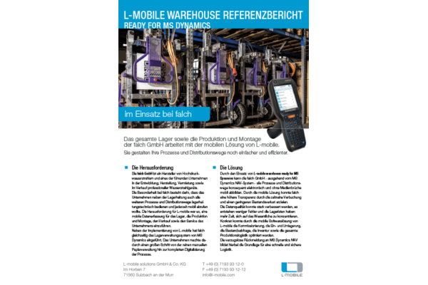 Referenzbericht – L-mobile warehouse ready for NAV – falch GmbH