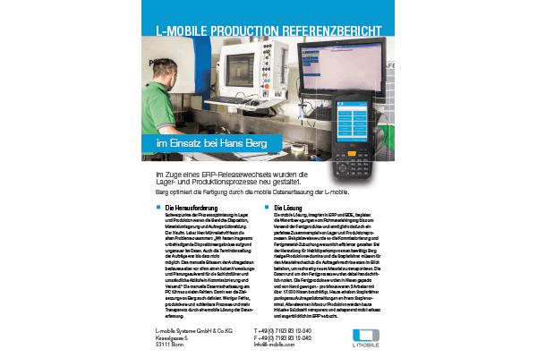 Referenzbericht – L-mobile production / warehouse – Hans Berg