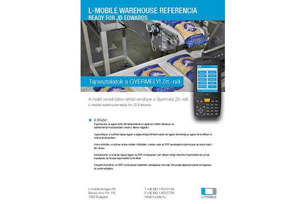 Referencia-nyilatkozat – L-mobile warehouse ready for JD Edwards – Gyermelyi