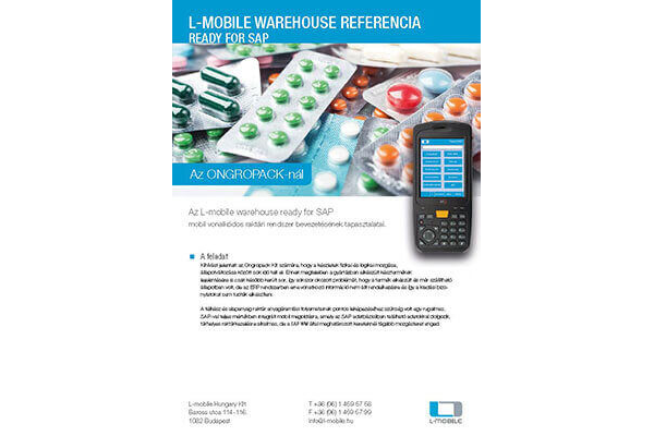 Referencia-nyilatkozat – L-mobile warehouse ready for SAP – Ongropack
